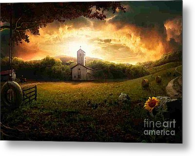 Country Side Painting Metal Print by Marvin Blaine