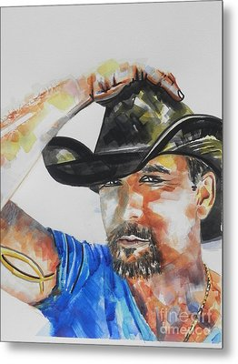 Country Singer Tim Mcgraw 02 Metal Print