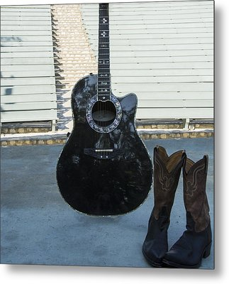 Metal Print featuring the photograph Country-rock Singer Wanted- by Renee Anderson