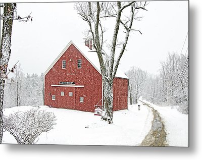 Country Snow Metal Print