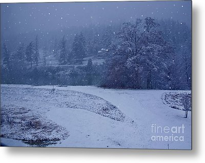 Metal Print featuring the photograph Country Snowstorm Landscape Art Prints by Valerie Garner