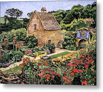 Country Stone Manor House Metal Print by David Lloyd Glover