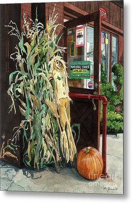 Metal Print featuring the painting Country Store by Barbara Jewell