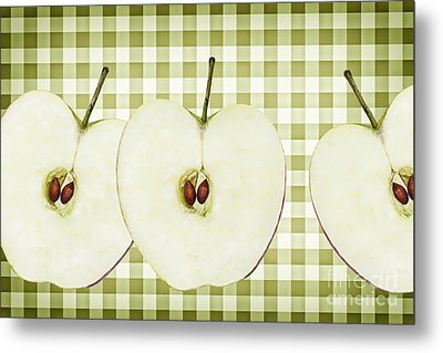 Country Style Apple Slices Metal Print by Natalie Kinnear