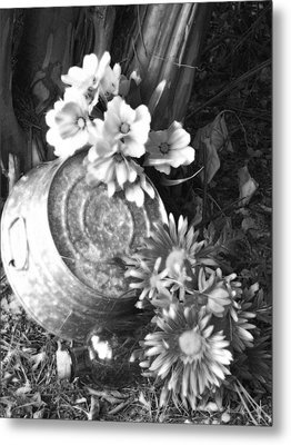 Country Summer - Bw 03 Metal Print by Pamela Critchlow