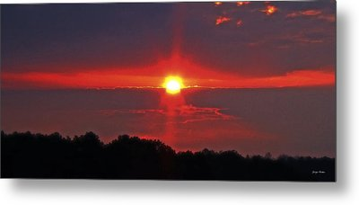 Country Sunrise 003 Metal Print by George Bostian