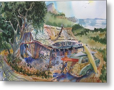 Country Surf Shop Metal Print