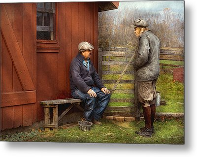 Country - The Farmhands Metal Print by Mike Savad