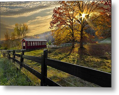 Country Times Metal Print by Debra and Dave Vanderlaan