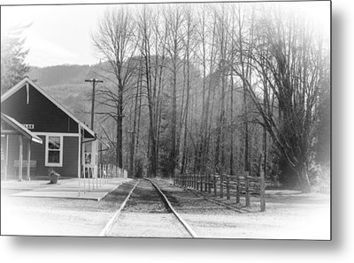 Metal Print featuring the photograph Country Train Depot by Tikvah's Hope