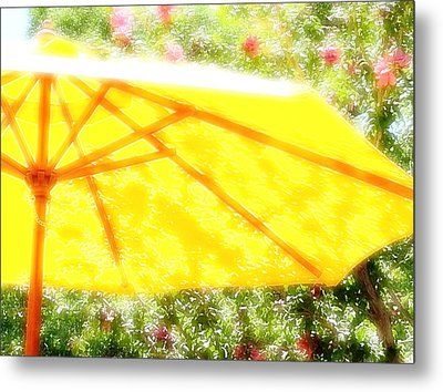 Country Umbrella Metal Print