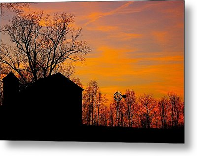 Country View Metal Print