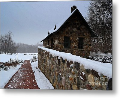 Country Winter Landscape  Metal Print