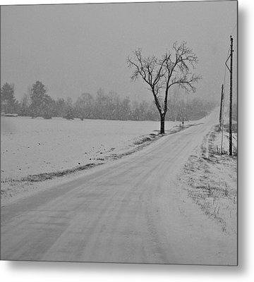 Country Winter Roads Metal Print by Dan Sproul