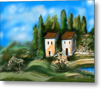 Countryside Metal Print by Christine Fournier