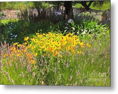 Countryside Cottage Garden 5d24560 Metal Print by Wingsdomain Art and Photography