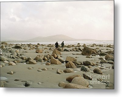 Metal Print featuring the photograph Couple And The Rocks by Rebecca Harman