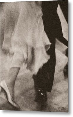 Couple Ballroom Dancing Legs Metal Print