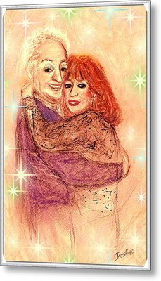Couple In Love Metal Print