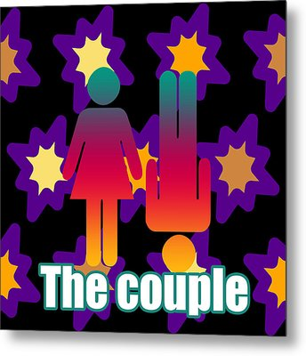 Couple In Popart Metal Print by Tommytechno Sweden