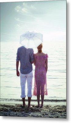 Couple On The Beach Metal Print by Joana Kruse