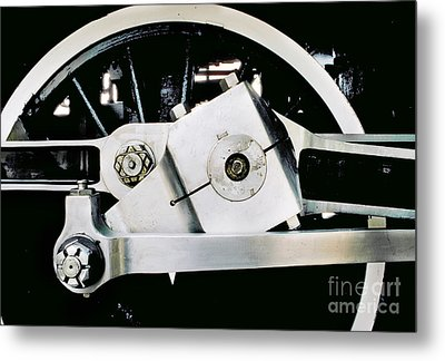 Coupling Rod And Driver Wheels For A Steam Locomotive Metal Print by Wernher Krutein