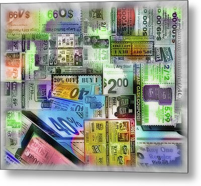 Coupon Collage Metal Print by Steve Ohlsen