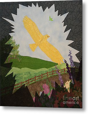 Courage Is The Bird That Soars Metal Print