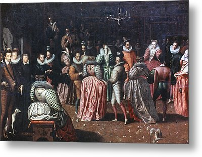 Court Ball, 16th Century Metal Print by Granger
