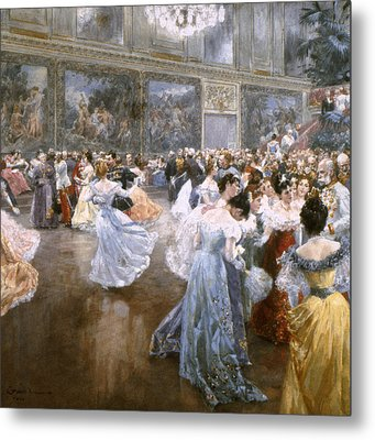 Court Ball At The Hofburg Metal Print by Granger