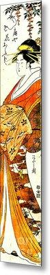 Courtesan Hanaogi 1794 Metal Print by Padre Art