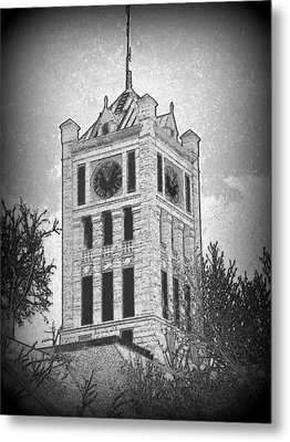 Courthouse Clocktower 5 Metal Print