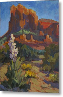 Courthouse Rock Sedona Metal Print by Diane McClary