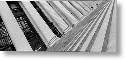 Courthouse Steps, Nyc, New York City Metal Print by Panoramic Images