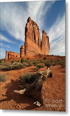Courthouse Tower Metal Print by Sharon Seaward