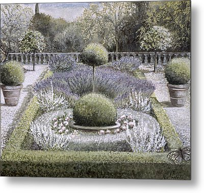 Courtyard Garden Metal Print by Ariel Luke