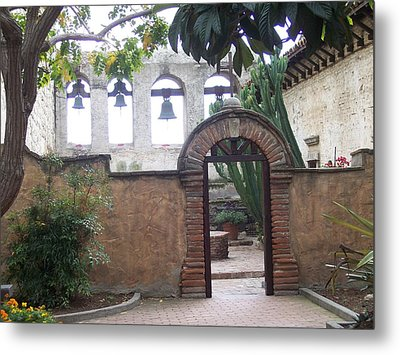 Courtyard Gateway Metal Print