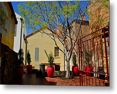 Courtyard Metal Print