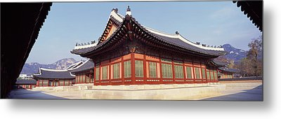 Courtyard Of A Palace, Kyongbok Palace Metal Print by Panoramic Images