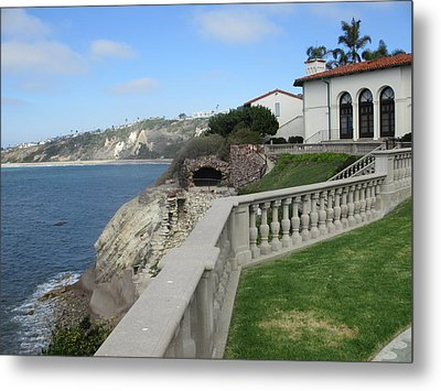 Courtyard On The Cliffs Metal Print