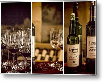 Coutet Wine Tour Triptych Metal Print