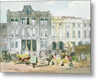 Covent Garden Market Wc On Paper Metal Print by English School