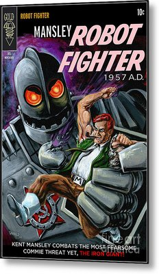Cover To Mansley Robot Fighter Metal Print