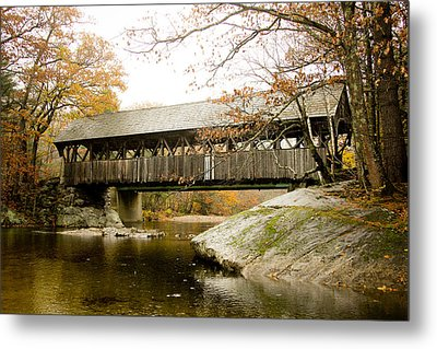 Covered Bridge  Metal Print by Allan Millora