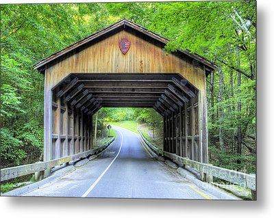 Covered Bridge At Sleeping Bear Dunes Metal Print by Twenty Two North Photography