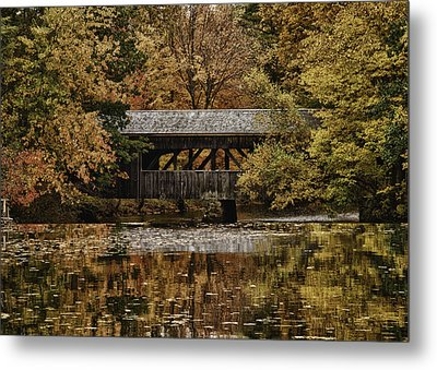 Covered Bridge At Sturbridge Village Metal Print by Jeff Folger