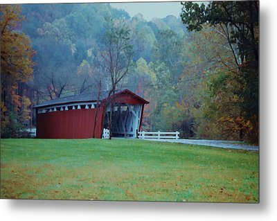 Metal Print featuring the photograph Covered Bridge by Diane Alexander