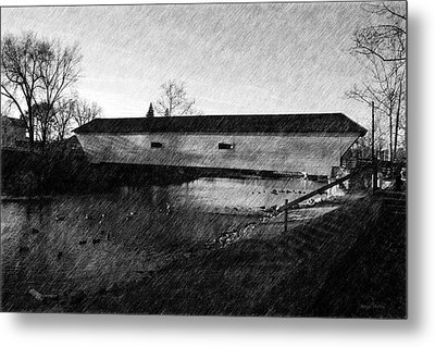 Covered Bridge Elizabethton Tennessee C. 1882 Metal Print