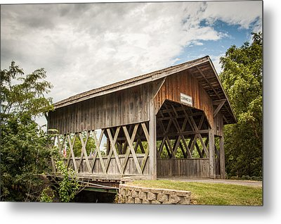 Metal Print featuring the photograph Covered Bridge In Nebraska by Dawn Romine