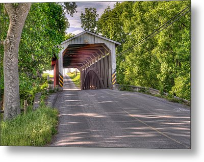 Metal Print featuring the photograph Covered Bridge by Jim Thompson